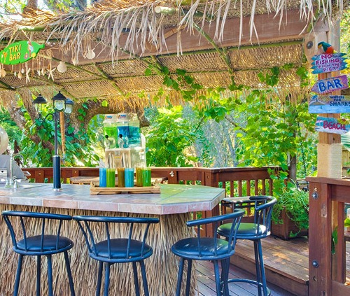 Tiki Backyard Ideas beach and tiki bar ideas for the home and backyard - gk home watch, llc